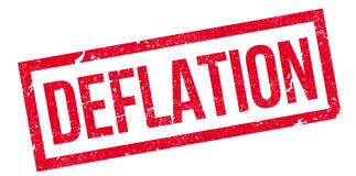 Deflation rubber stamp Royalty Free Stock Photo