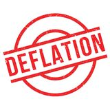 Deflation rubber stamp Stock Image