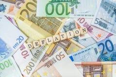 Deflazione Fotografia Stock Libera da Diritti