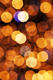 Defocus των χρυσών φω'των Στοκ Εικόνα