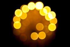 Defocus av lampa Arkivfoto
