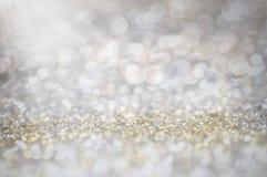defocus błyskotliwość rocznik zaświeca tło złoto, srebro i b, obraz royalty free