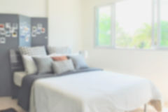 Defocus background bedroom interior modern style. Defocus of bedroom interior modern style for background Stock Image