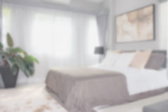 Defocus background bedroom interior modern style. Defocus image of bedroom interior modern style for background Stock Images