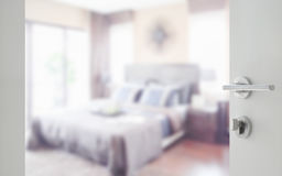 Defocus background of classic style interior bedroom.  Royalty Free Stock Photography