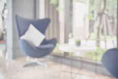 Defocus background easy lounge chair at hotel lobby Royalty Free Stock Photo