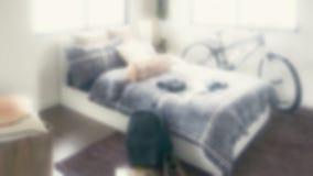 Defocus background modern bedroom Stock Image