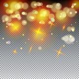 Defocus beleuchtet magische Tapete lizenzfreie abbildung