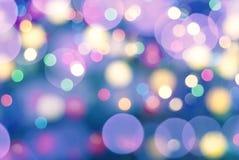 Defocus bokeh light background. Colourful defocus bokeh christmas light abstract background Stock Photography