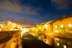 Otaru canal at night royalty free stock image