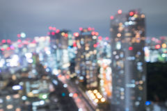 Defocus bokeh of tokyo. Great for your design Royalty Free Stock Photography