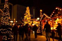 Defocus Christmas market. Of Berlin at night Royalty Free Stock Images