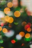 Defocus Christmas Tree. Defocused Christmas Tree with light decorative garland Stock Photos