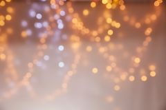 Blur christmas lights background Stock Photos