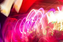 Defocus club light. Blurry lights. Royalty Free Stock Image