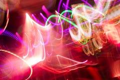 Defocus club light. Blurry lights. Stock Photos