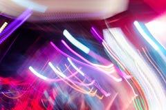 Defocus club light. Blurry lights. Stock Images