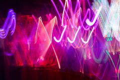 Defocus club light. Blurry lights. Royalty Free Stock Images