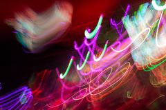 Defocus club light. Blurry lights. Club lights for designer Royalty Free Stock Images