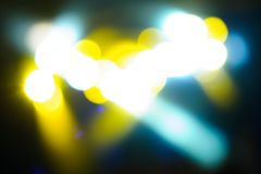 Defocus club light. Blurry lights Stock Images