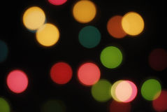 Defocus of colorful lights. Royalty Free Stock Image