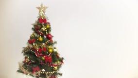 Defocus da árvore de Natal video estoque