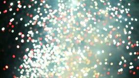 Defocus de los fuegos artificiales almacen de video