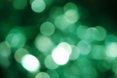 Defocus de luzes verdes Imagem de Stock Royalty Free