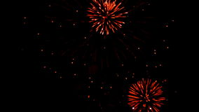 Defocus dos fogos-de-artifício