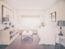 Defocus interior of living room in vintage style effect Stock Photography