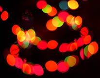 Defocus light spots. Defocus (bokeh) light color spots Royalty Free Stock Photo