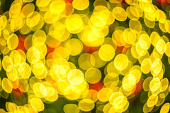 Defocus lights. Defocus of yellow lights. Image is blurry Royalty Free Stock Images