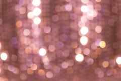 Defocus ljusbokeh på ljuskronan Royaltyfri Fotografi