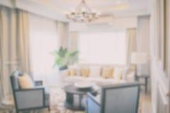 Defocus luksusowy żywy pokój w nowożytnym klasyka stylu Obrazy Royalty Free