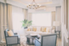 Defocus luxury living room in modern classic style Royalty Free Stock Images