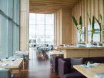 Defocus of modern restaurant of hotel Royalty Free Stock Photo