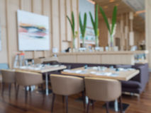Defocus of modern restaurant of hotel Stock Photography