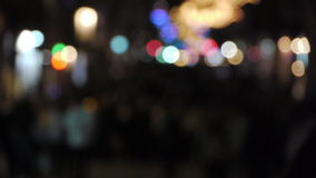 Defocus people walking on the street at night / great generics stock video
