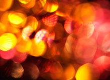Defocus of red and yellow lights. Stock Image