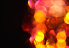 Defocus of red and yellow lights. Stock Photography