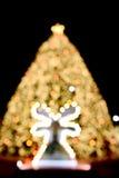 Defocus shape of Christmas tree. And Deer Stock Image