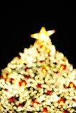 Defocus shape of Christmas tree. Defocus shape of Christmas tree and Deer Stock Photo