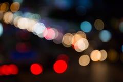 Defocus street lights bokeh. Royalty Free Stock Photography