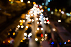 Defocus street lights. Royalty Free Stock Image