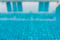 Defocus of swimming pool. With blue tile Royalty Free Stock Photo
