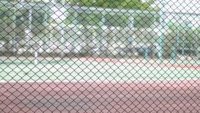 Defocus und Unschärfefoto des Tennisplatzes Hintergrund Stockfoto
