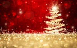 Defocused圣诞树背景 免版税库存图片