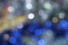 Defocused多彩多姿的圣诞节背景 免版税库存照片