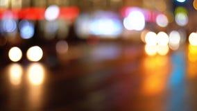 Defocused夜城市交通光 影视素材