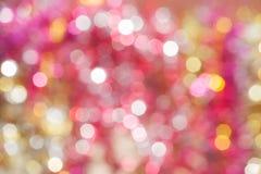 Defocused抽象假日和圣诞节背景 免版税图库摄影